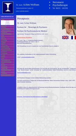 Vorschau der mobilen Webseite www.nervenarzt-heidelberg.de, Wolfram, Dr. med. Achim