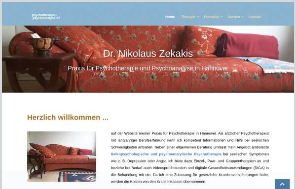 Vorschau von www.psychotherapie-psychoanalyse.de, Zekakis, Dr. med. Nikolaus