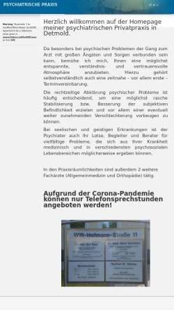 Vorschau der mobilen Webseite www.psychiatrie-praxis-detmold.de, Zimmer, Hartmut W.