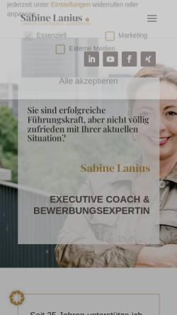 Vorschau der mobilen Webseite www.sabine-lanius.de, Sabine Lanius Training & Coaching