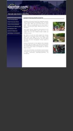 Vorschau der mobilen Webseite www.generationeurope.de, Generation Europe Events