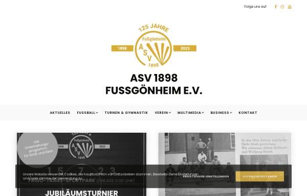 Vorschau von www.asvfussgoenheim.de, ASV Fußgönheim