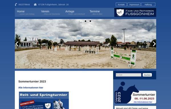 Vorschau von www.reitverein-fussgoenheim.de, FRV Fußgönheim