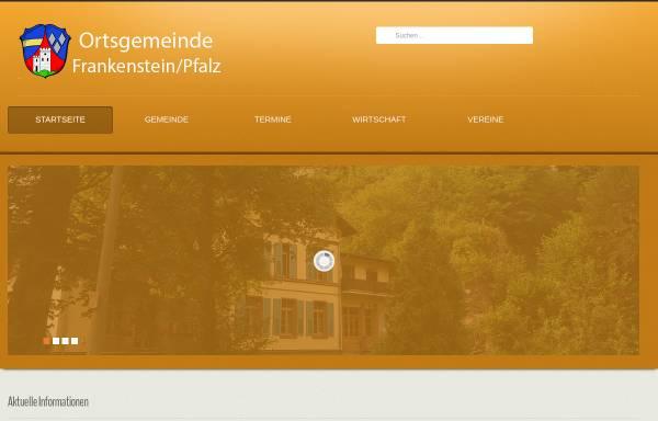 Vorschau von www.frankenstein.de, Gemeinde Frankenstein (Pfalz)
