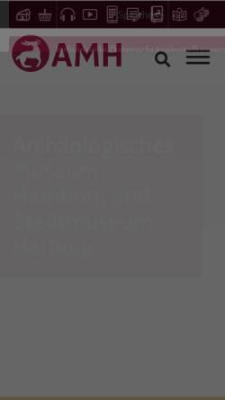 Vorschau der mobilen Webseite www.helmsmuseum.de, Helms Museum