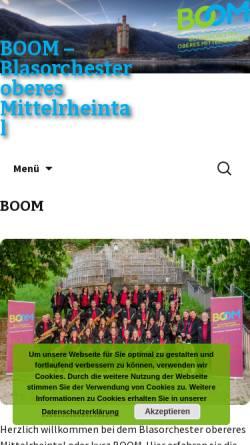 Vorschau der mobilen Webseite www.mv-niederheimbach.de, Blasorchester der Vereine Musikverein