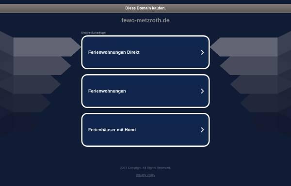 Vorschau von fewo-metzroth.de, Ferienwohnung Metzroth