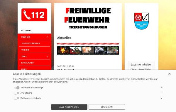 Vorschau von www.ff-trechtingshausen.de, Freiwillige Feuerwehr Trechtingshausen