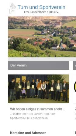 Vorschau der mobilen Webseite www.tus-frei-laubersheim.de, TuS 1900 Frei-Laubersheim e.V.