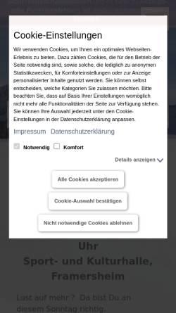 Vorschau der mobilen Webseite www.framersheimer-skiclub.de, Framersheimer Skiclub e.V.