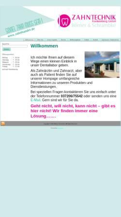 Vorschau der mobilen Webseite www.zahnhandel.de, Dental Labor Udo Gerschler