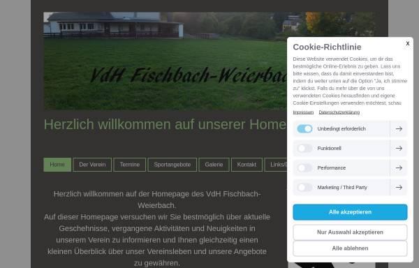 Vorschau von www.vdh-fischbach-weierbach.de, Verein der Hundefreunde Fischbach-Weierbach
