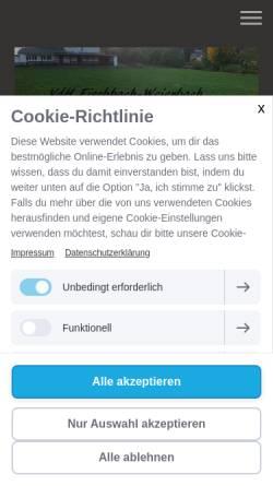 Vorschau der mobilen Webseite www.vdh-fischbach-weierbach.de, Verein der Hundefreunde Fischbach-Weierbach