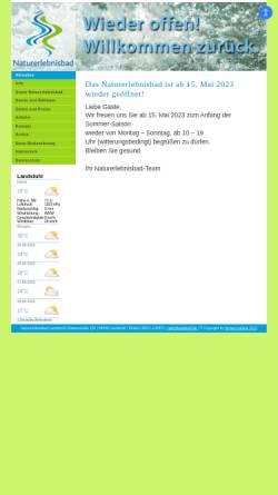 Vorschau der mobilen Webseite www.neb-landstuhl.de, Naturerlebnisbad Landstuhl