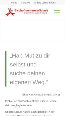 Vorschau der mobilen Webseite www.nvw-landstuhl.de, Nikolaus-von-Weis-Schule