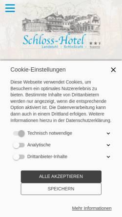 Vorschau der mobilen Webseite www.schlosshotel-landstuhl.de, Schlosshotel Landstuhl