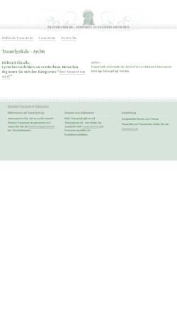 Vorschau der mobilen Webseite www.trauerlyrik.de, Lyrisches Gedenken an verstorbene Menschen