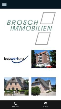 Vorschau der mobilen Webseite immobilien-brosch.de, Immobilien Brosch