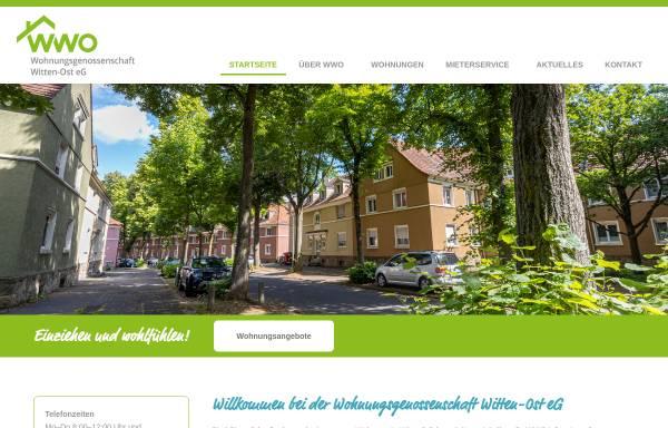 Vorschau von www.wwo-witten.de, Wohnungsgenossenschaft Witten - Ost eG
