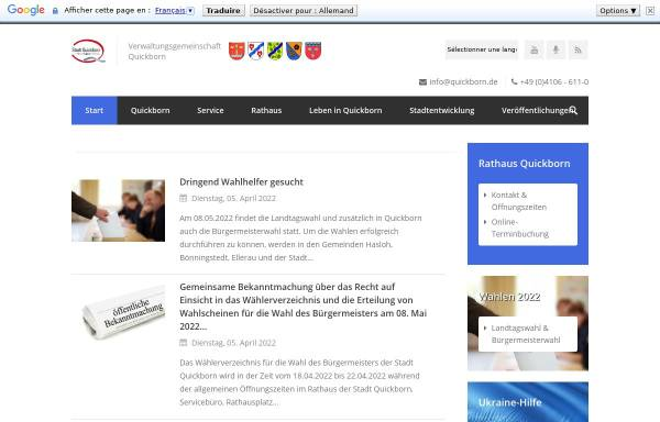 Vorschau von www.quickborn.de, Stadt Quickborn