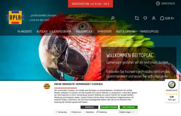 Vorschau von www.toplac.de, Toplac Autolackierbedarf GmbH
