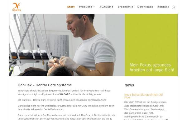 Vorschau von www.danflex.de, XO Care Deutschland GmbH