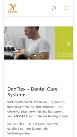 Vorschau der mobilen Webseite www.danflex.de, XO Care Deutschland GmbH