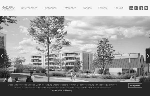 Vorschau von www.madako.de, Marré Dahms Koch – Architekten, Ingenieure, Consulting