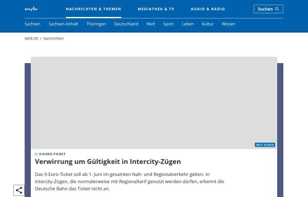 Vorschau von www.mdr.de, MDR Info