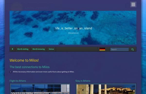 Vorschau von milos-greece.com, Milos-Greece