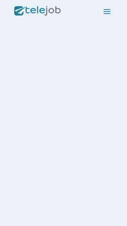 Vorschau der mobilen Webseite www.telejob.ch, Telejob