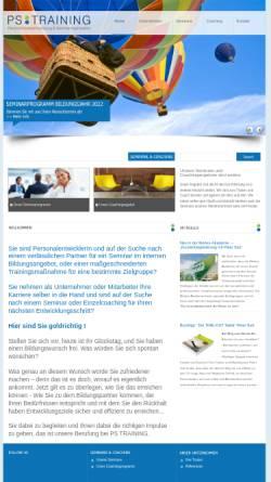 Vorschau der mobilen Webseite www.seminare.at, P.S. Training - Gesellschaft für Persönlichkeitsentwicklung und Seminarorganisation