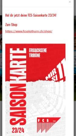 Vorschau der mobilen Webseite www.fcsolothurn.ch, FC Solothurn