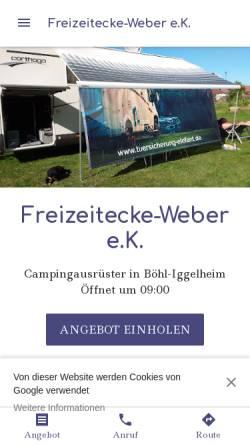 Vorschau der mobilen Webseite freizeit-ecke-weber.business.site, Freizeit-Ecke Weber