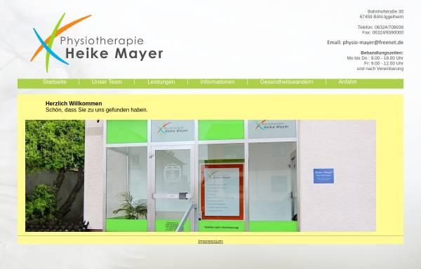 Vorschau von www.physio-mayer.de, Praxis für Physiotherapie Heike Mayer