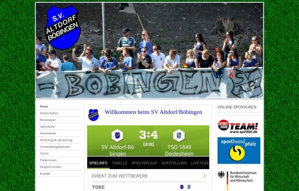 Vorschau von www.sv-ab.de, SV Altdorf/Böbingen