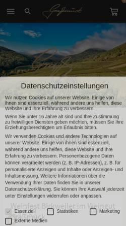 Vorschau der mobilen Webseite www.weingut-grassmueck.de, Weingut Graßmück