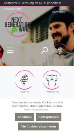 Vorschau der mobilen Webseite www.weinort-birkweiler.de, Weinort Birkweiler