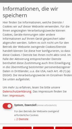 Vorschau der mobilen Webseite spd-impflingen.de, SPD Billigheim   Ingenheim