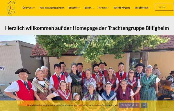 Vorschau von www.trachtengruppe-billigheim.de, Trachtengruppe Billigheim