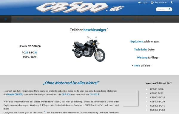 Vorschau von www.cb500.net, CB500.net