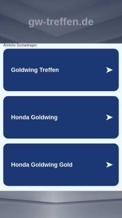Vorschau der mobilen Webseite www.gw-treffen.de, Goldwing-Treffen