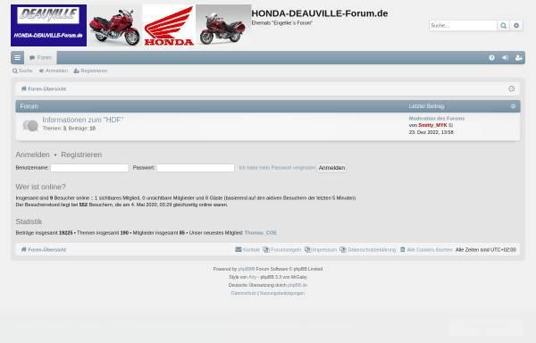 Vorschau von www.honda-deauville-forum.de, Honda Deauville