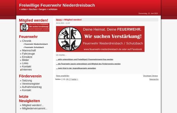 Vorschau von www.feuerwehr-niederdreisbach.de, Freiwillige Feuerwehr Niederdreisbach