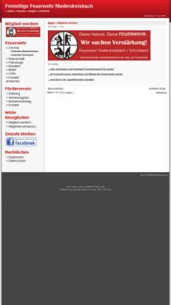 Vorschau der mobilen Webseite www.feuerwehr-niederdreisbach.de, Freiwillige Feuerwehr Niederdreisbach