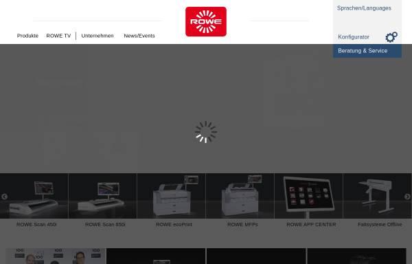 Vorschau von www.rowe.de, Roth + Weber Gmbh