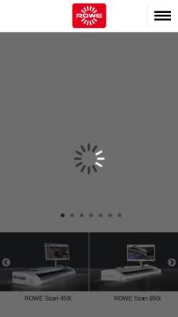 Vorschau der mobilen Webseite www.rowe.de, Roth + Weber Gmbh
