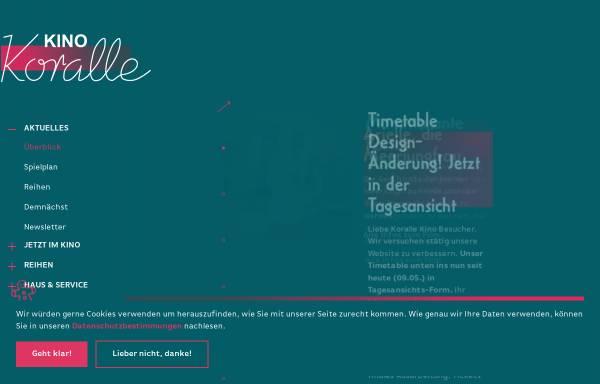 Vorschau von www.korallekino.de, Koralle-Kino