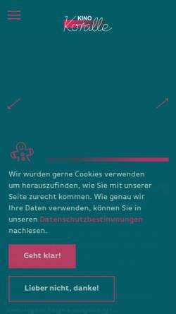 Vorschau der mobilen Webseite www.korallekino.de, Koralle-Kino