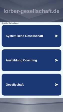 Vorschau der mobilen Webseite www.lorber-gesellschaft.de, Lorber Gesellschaft e.V.